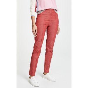 Diane Von Furstenberg High Waist Skinny Red Pants